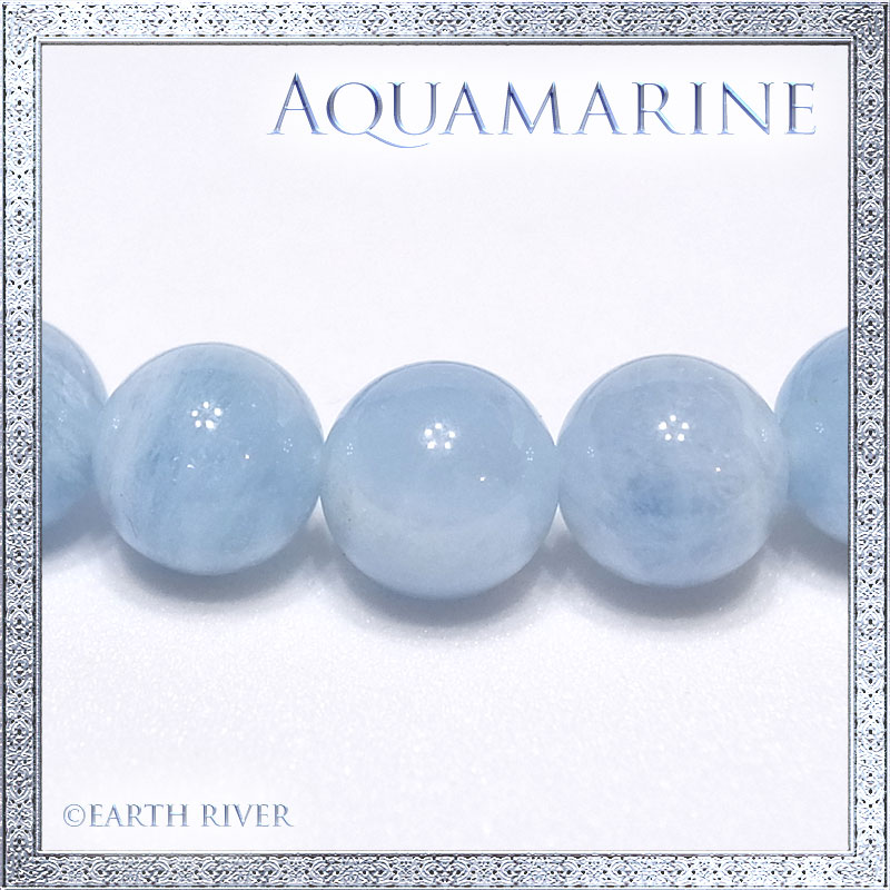 アクアマリン ブレスレット Milky Aquamarine VI(14-18cm)