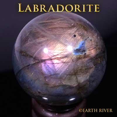 ラブラドライト オーロラクリスタルスフィア 4